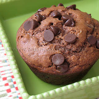 Chocolate Chocolate Chip Muffins.