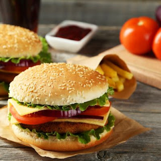 Juicy and Fresh Fish Patty Burger
