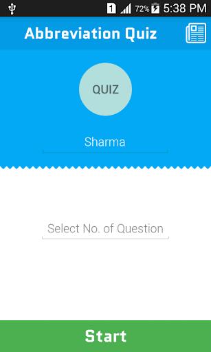 Abbreviations Quiz