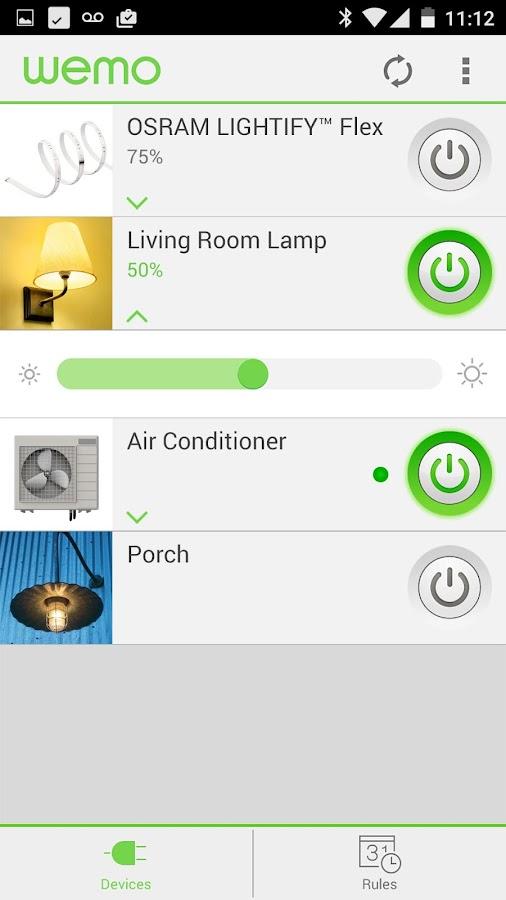 WeMo - screenshot