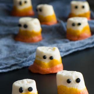 Vegan Candy Corn Marshmallow Ghosts