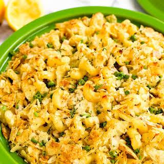 Sour Cream and Onion Tuna Noodle Casserole.
