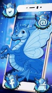Cute Baby Dragon Theme - náhled