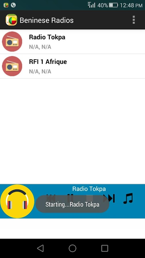 Beninese Radios- screenshot
