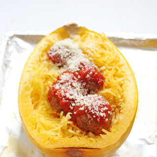 Spaghetti Squash and Turkey Quinoa Meatballs