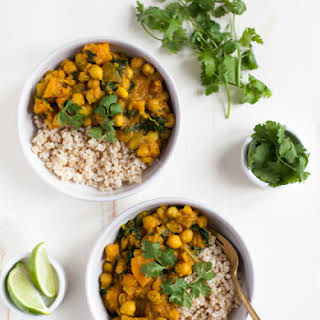 Golden Butternut Squash and Chickpea Curry.
