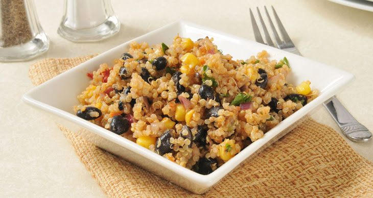 Curried Quinoa, Corn and Black Bean Salad Recipe | Yummly