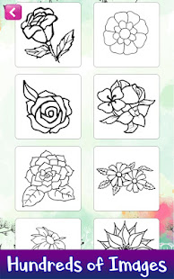 Learn to Draw Flowers: Draw, Glitter & Color Book – Apps on