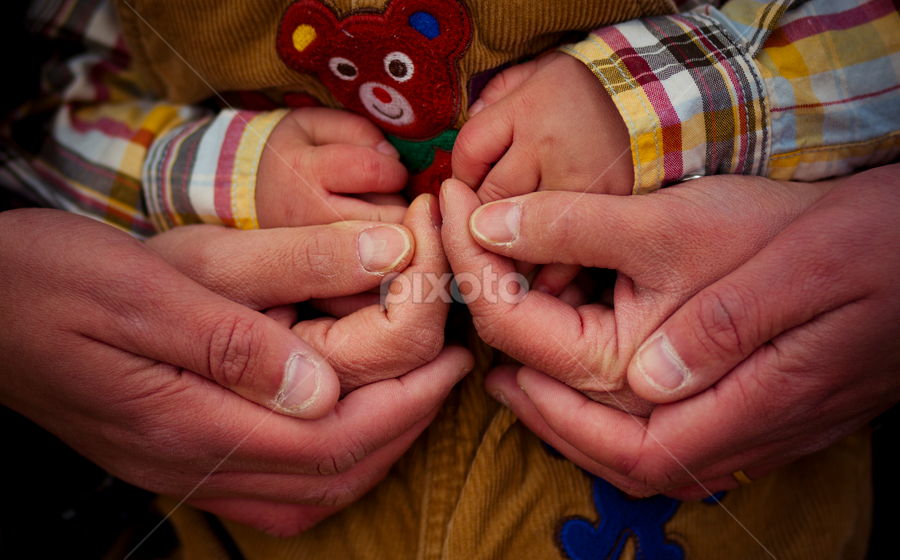Hand in hand by Anh Nguyen - People Body Parts ( pwchandshake, mother, hands, family, father, kid )