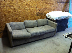 Photo: The old Brosig couch was ceremonially cremated in 2011