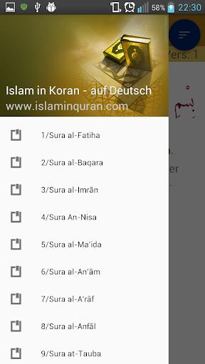Islam in Koran auf Deutsch