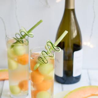 Cucumber Melon Ball Wine Cooler.