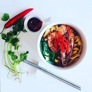 Claypot Prawn Noodle.