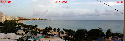 West Balcony Panorama View from Amateur Radio Station KP4MD/P in Puerto Rico