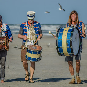 beach beat by Prentiss Findlay - People Musicians & Entertainers ( beach drums, marching beach drumming, beach, drumming on the beach, beach drumming )