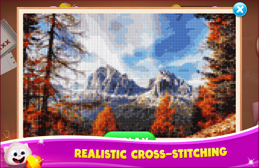 Cross Stitch Quest - Sewing Pattern Mania  captures d'écran 1