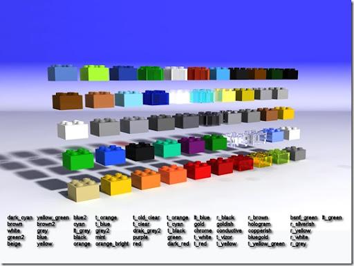 Lego - Tabla de colores