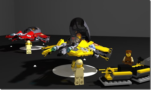 Lego - Jedis starfighters on Hangar