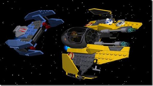 Lego - Droid Fighter vs Jedi Starfighter
