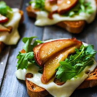 Balsamic-Glazed Pears on Gluten Free Rye Toast.
