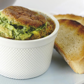 Spinach, Feta and Corn Souffles