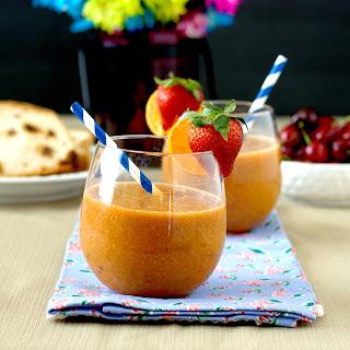 Papaya-Peach Smoothie.