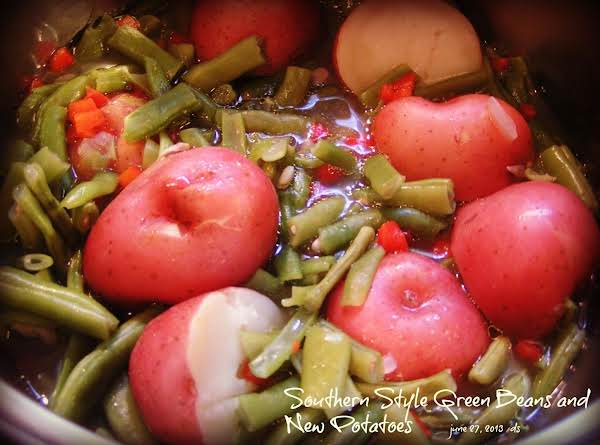 Southern Style Green Beans And New Potatoes