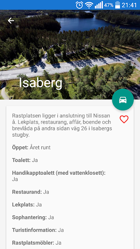 Rastplatser screenshot