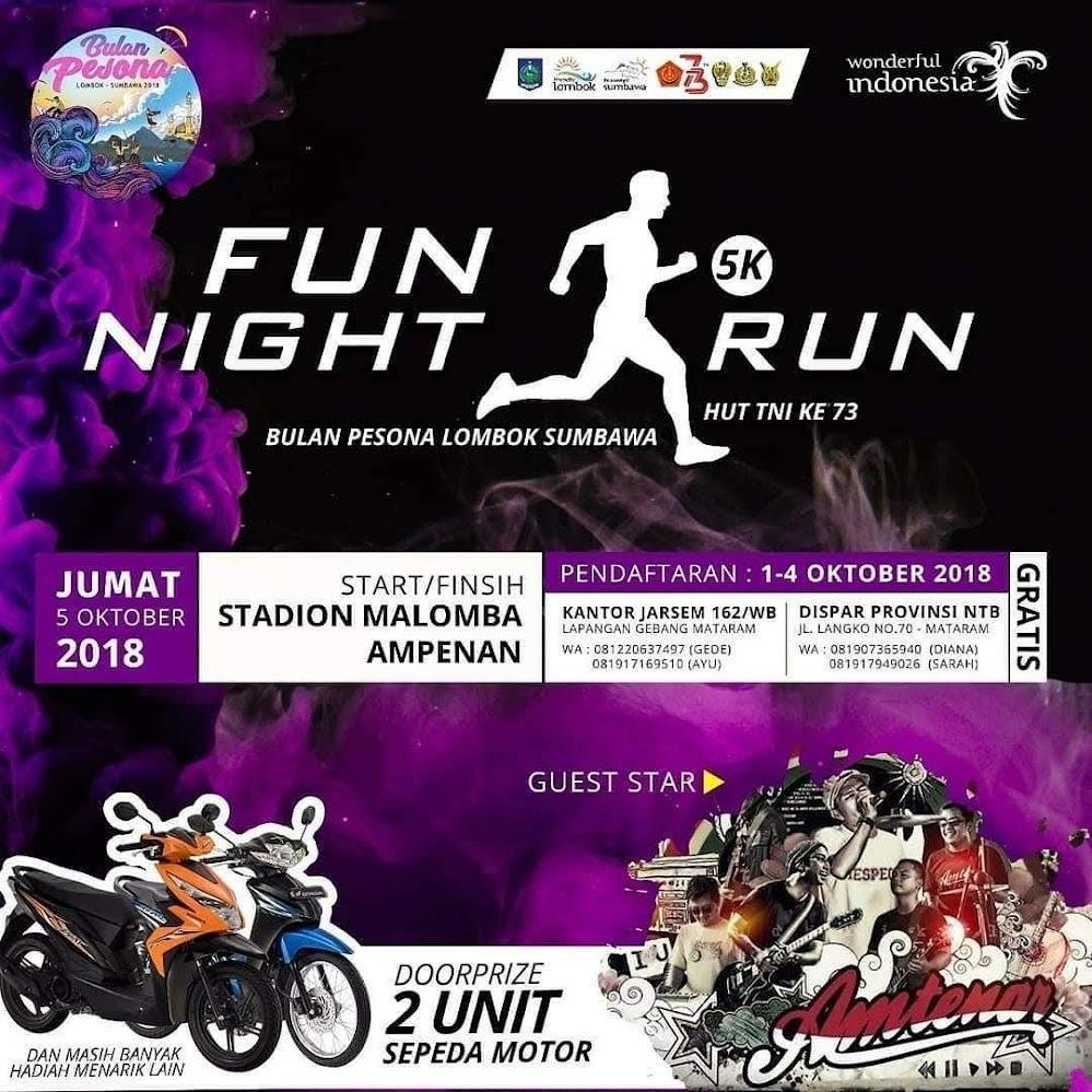 Bulan Pesona Lombok - Fun Night Run • 2018