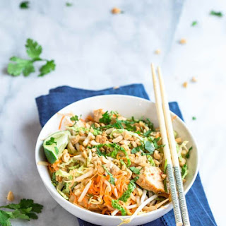 Low Carb Chicken Pad Thai Zoodles.