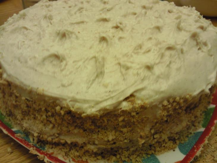 Pumpkin Hazelnut Cake with Spiced Yogurt Frosting Recipe