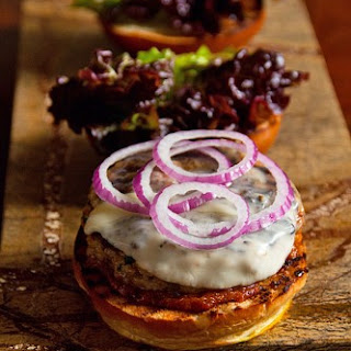 Pork Chorizo Burger with Bacon-Tomato Ketchup.