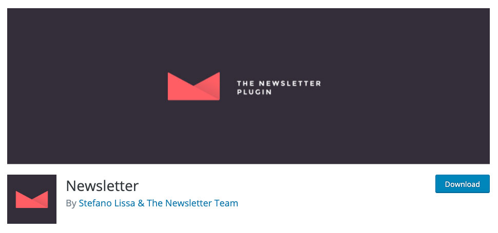 Newsletter plugin page.