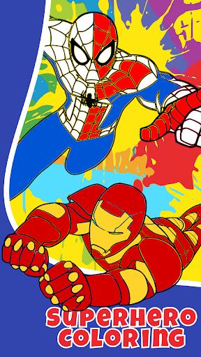 Superhero Infinity Coloring book for kids 1.0 screenshots 8