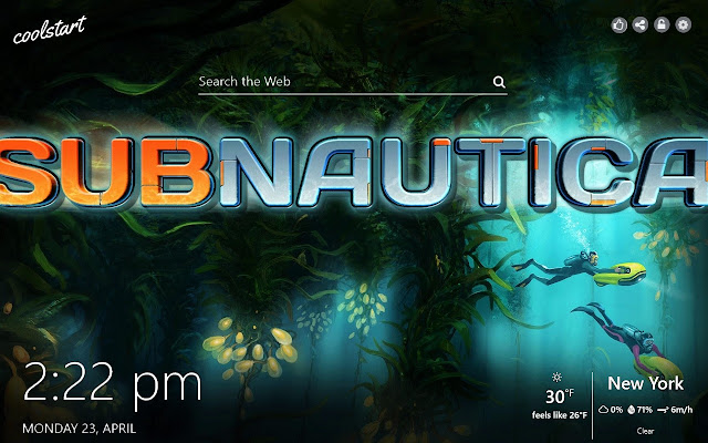 Subnautica HD Wallpapers Games New Tab Theme