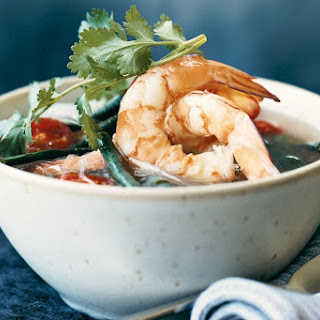 Hot And Sour Noodle Soup With Prawns