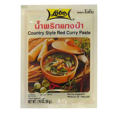 Country Style Red Curry Paste 50g Lobo