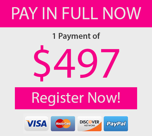 Pay In Full $497 Register Now