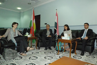 Photo: with dr Kawa Mahmud, the Minister of Culture and Youth in Kurdistan Region Government and representatives from Kurdistan Students Union, Hawler