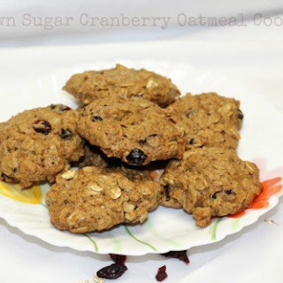 Brown Sugar Cranberry Oatmeal Cookies.