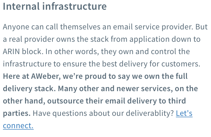 getresponse deliverability internal infrastructure