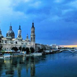 Zaragoza Spain  by Monita Alstadsæter - Buildings & Architecture Public & Historical ( bridge, building )