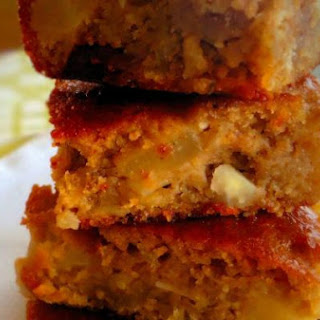 Gluten Free Garbanzo Bean Pear Bars with Dried Cranberries