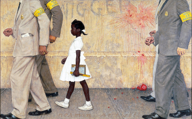 The Problem We All Live With Norman Rockwell