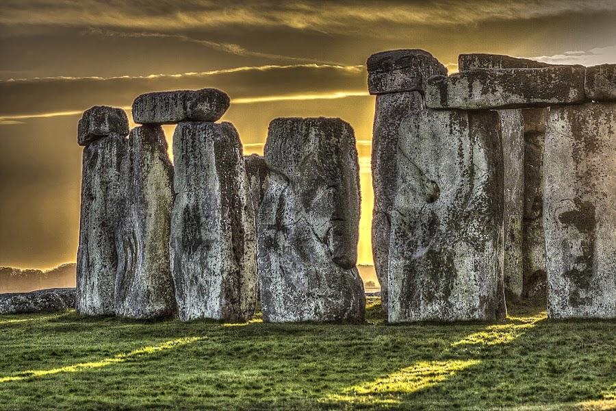 Stonehenge Sunset by Nick Cartwright - Travel Locations Landmarks ( famous landmarks, england, uk, stonehenge, sunset, travel )