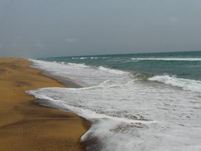 Photo: arrivée à la plage de Grand - Popo