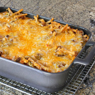 Easy Macaroni and Beef Casserole.