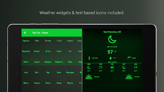 PipTec Green Icons & Live Wall (Pro Version)- screenshot thumbnail