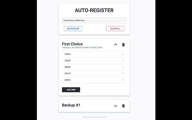Auto-Register