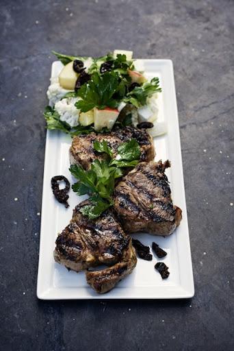 Lamb Chops with Winter Greek Salad